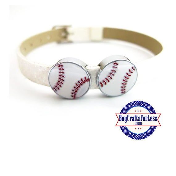 BASEBALL for 8mm SLIDE Bracelets, Key Rings, Collars +FREE Shipping & Discounts*