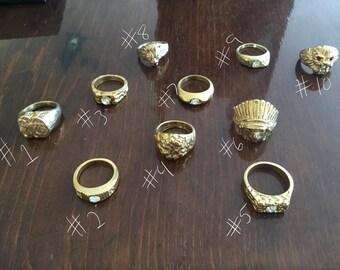Gaudy rings