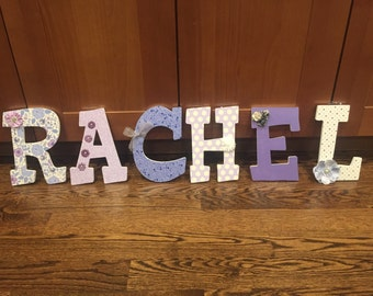 Shabby Chic Custom Name Letters