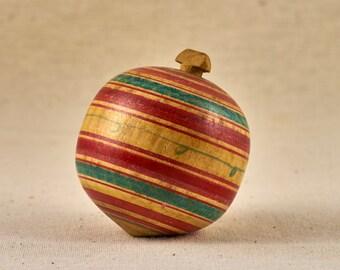 Wooden Top toy. Peg-top. Vintage, Japanese whirligig.