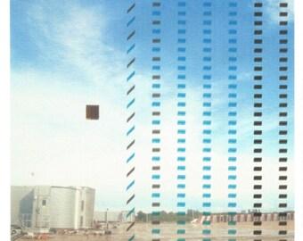 Landing Glitch - postcard print