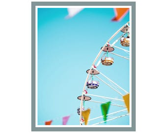 Ferris Wheel Print, Sky Wall Art, Large Printable Poster, Prints for Life Studio, Print 148