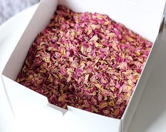 Wedding Confetti Rose Petal Toss ~ 'WILDE' Organic Indian Rose Petal ~ Biodegradable ~ Bloom Box ~ BULK BUY ~ 40 cones or portions