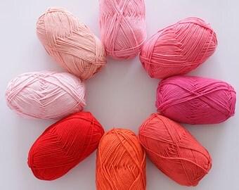 wholesale 5 balls/lot 500g Natural worsted soft milk cotton yarn high quality crochet yarn wool knitting yarn for knitting