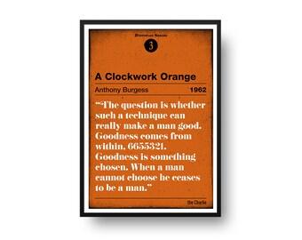 A Clockwork Orange Poster (Anthony Burguess) – Dystopian Series Number 3