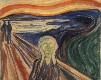 Edvard Munch: The Scream (1893–1893) Canvas Gallery Wrapped Wall Art Print