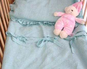 Baby Linen Bedding, Linen duvet cover + Pillowcase