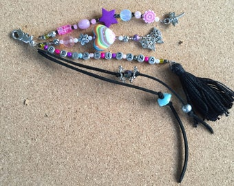 boho tassel key chain /key chain boho / bohemian jewellery/key chain boho / gypsy beach bag charm /gift key charm/ key chain boho tassel