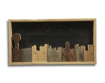Knoxville Tennessee Skyline Cityscape Rustic Pallet Art Wood Wall Hanging Sign Home Decor Small Version