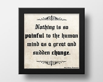 Frankenstein Mary Shelley Quote Wall Art Poster