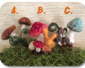 Fuzzy Felted Fungi