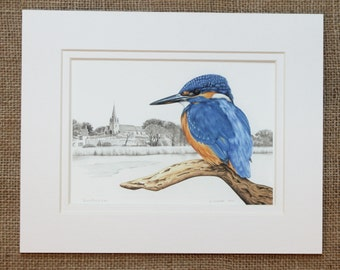 Kingfisher Print, Vale Church, Guernsey