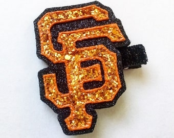 San Francisco Giants Hair Clip | MLB | Baseball Hair Bow | SF Giants | Baseball Hair Clip