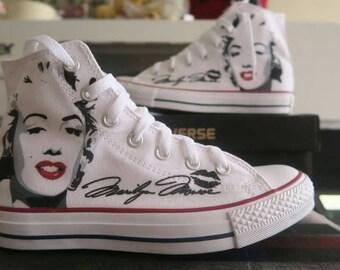 Marilyn Monroe Hi Top Converse All Star shoes