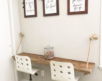 custom desk|wood desk|kids table|suspended desk