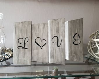 Love Wooden Rustic Sign