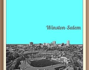 Winston Salem    Skyline Poster