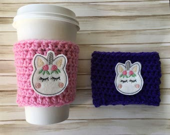 Unicorn Coffee Cozy/Unicorn Coffee Sleeve/Unicorn