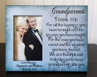 Grandparents picture frame gift // wedding gift for grandmother or grandfather // Grandparents thank you  // 6x4 picture frame