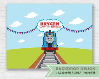Thomas The Train Birthday Party Backdrop // DIGITAL FILE Only