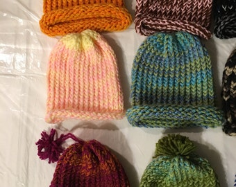 Children's Hand Knitted Winter Hats