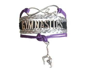 Gymnastics Gift- Gymnastics Bracelet – Gymnastics Gift - Gymnastics - Perfect for Gymnast, Gymnastics Coaches & Gymnastics Team Gifts