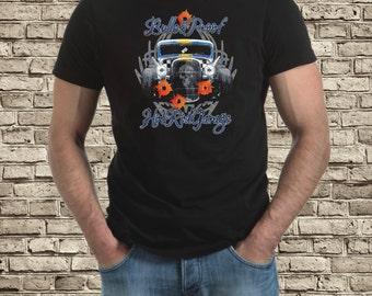 Bullet proof hot rod / rat rod t-shirt