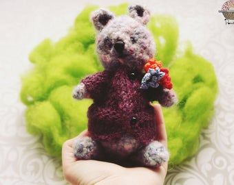 Crochet Bear Little Gentleman