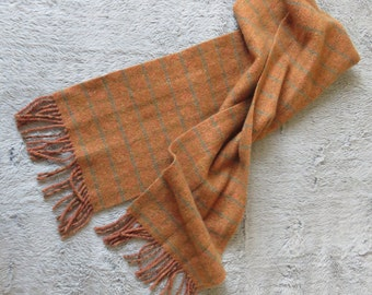 Men's Scarf 100% Cashemere Never Range - Color Rust