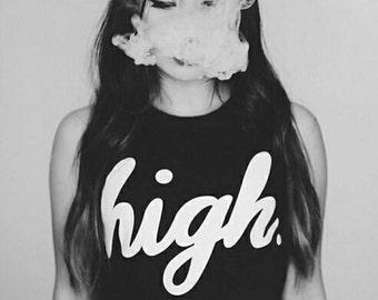 high. crop top