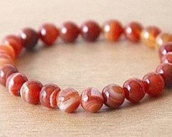 Carnelian Bracelet - Energy Bracelet- Sacral Chakra