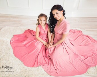 Matching mother daughter dresses. Family Look. Price for two!