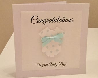 Baby boy card - new baby boy card - baby boy - it's a boy card - new baby boy - congratulations baby boy