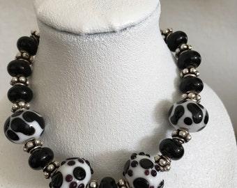 Dog paw bracelet/Dalmatian Bracelet