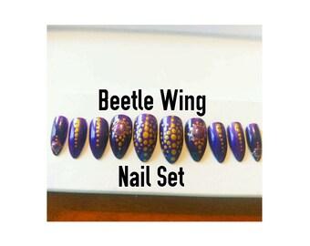 Beetle Wing Nail Set
