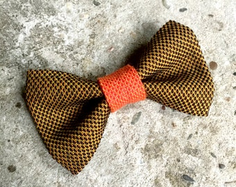 YUMI bow tie-Brown | Orange