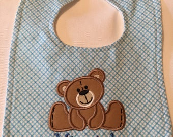 Handmade Personalized Baby Bibs & Burp Cloths w/ Applique