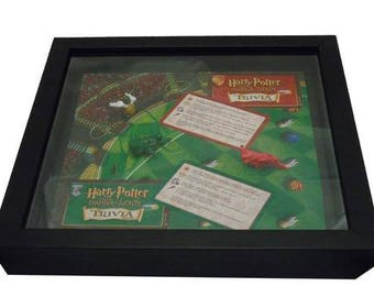 Harry Potter Chamber of Secrets Board Game Framed Upcycled Art - Quidditch Seeker