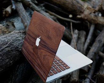 real handmade rosewood wood wooden macbook skin