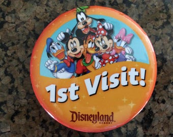 1st Visit DISNEYLAND RESORT BUTTONS