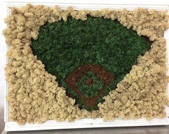 Baseball Reindeer Moss Art