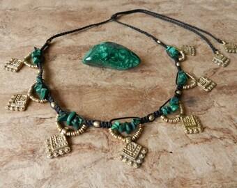 Tribal malachite Necklace