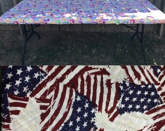 patriotic fitted table cloth, folding table cover, 4th of july, holidays, memorial day, veterans day