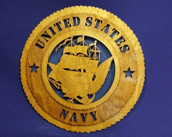 """12""""United States Navy wall tribute"""