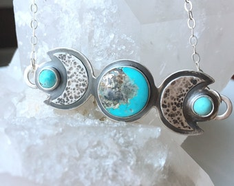The Full Moon Rising - Morenci Turquoise