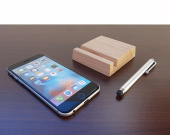 iPhone stand. iPhone X Stand. Wood iPhone 7, 8 stand. Wooden iPhone Stand. Wood iPhone 6 Stand. Cherry iPhone Stand.