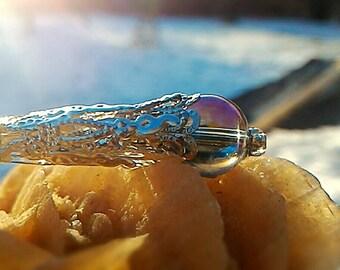 Stunning Aqua Aura pendant pendulum