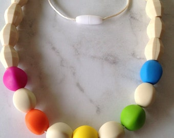 Silicone Teething Necklace - Multi Colour