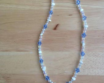 Safety pin and Freshwater pearl necklace
