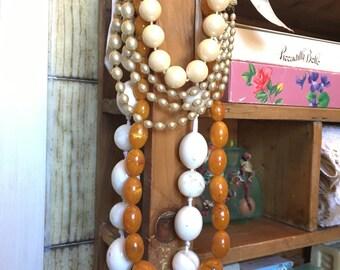VINTAGE PERL Necklaces Art Deco mid century